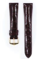 Hirsch London - wine red shiny aligator