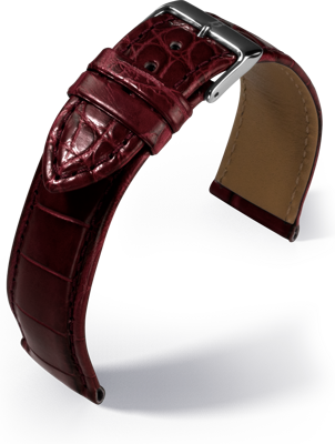Barington - Louisiana Croco - bordeaux - leather strap