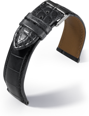 Barington - Louisiana Croco - grey - leather strap