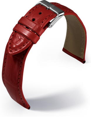 Barington - Louisiana Croco - red - leather strap