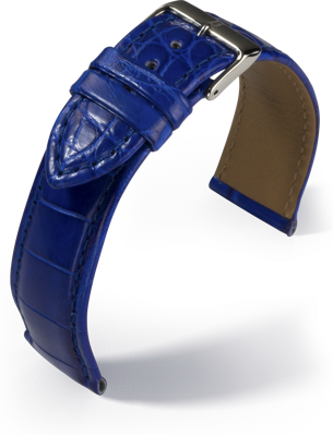 Barington - Louisiana Croco - royal blue - leather strap