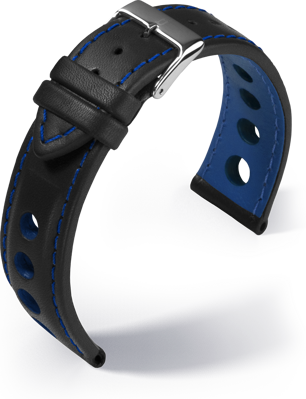Barington - Racing - blue - leather strap