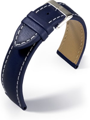 Barington - Rind Rustica - blue - leather strap