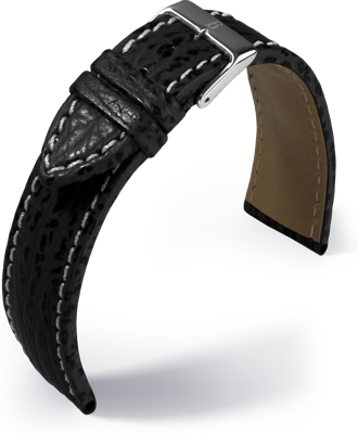 Barington - Shark - black - leather strap