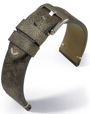 Barington - Vintage- grey - leather strap
