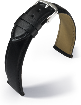 Eulit - Buffalo calf - black - leather strap