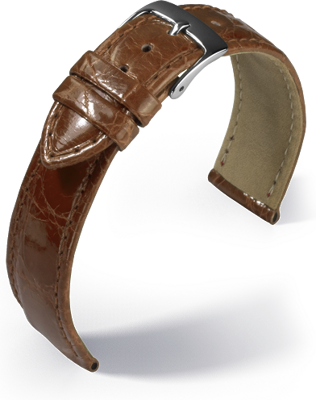 Eulit - Crocodile - golden brown - leather strap