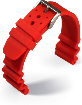 Eulit - Diver - red - silicone strap