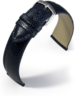 Eulit - Genuine lizard - blue - leather strap