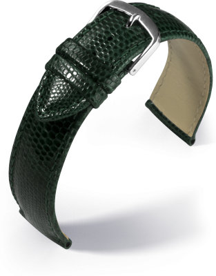 Eulit - Genuine lizard - green - leather strap