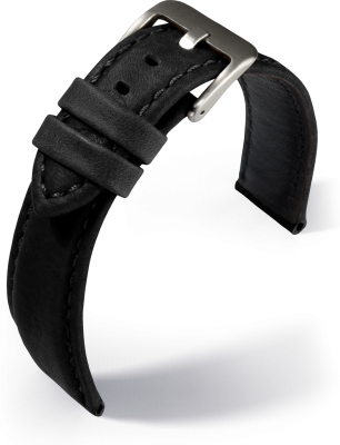 Eulit - Montreal - black - leather strap