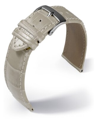 Eulit - Louisiana crocodile look - beige - leather strap