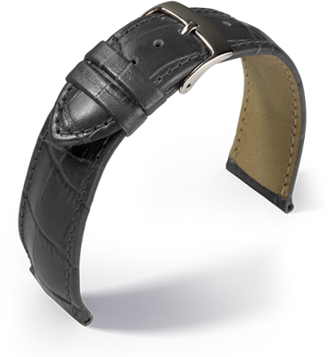 Eulit - Louisiana crocodile look - grey - leather strap