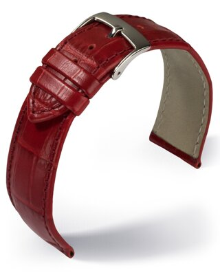 Eulit - Louisiana crocodile look - red - leather strap