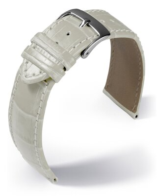 Eulit - Louisiana crocodile look - white - leather strap