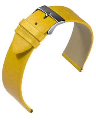Eulit - Nappa - yellow - leather strap