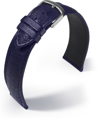 Eulit - Ostrich Eco - blue - leather strap