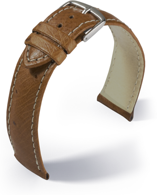Eulit - Ostrich Eco - golden brown - leather strap