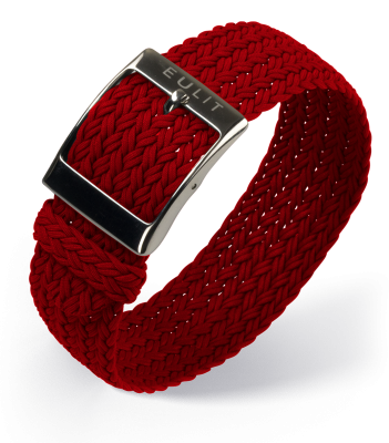 Eulit - Palma Perlon - red - nylon strap - stainless steel buckle