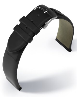 Eulit - Patent leather - black - leather strap