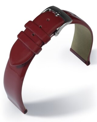 Eulit - Patent leather - red - leather strap