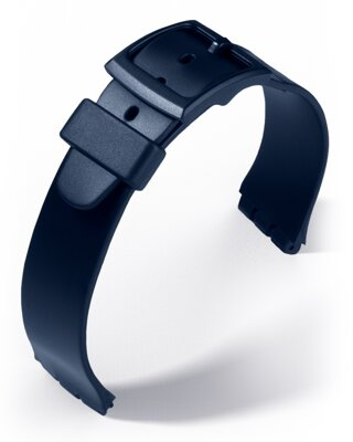 Eulit - PVC strap for Swatch - 17 mm - blue
