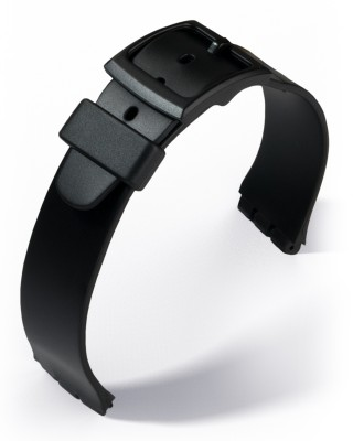 Eulit - PVC strap for Swatch - 17 mm - black