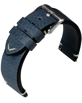Eulit - Retro - blue - leather strap