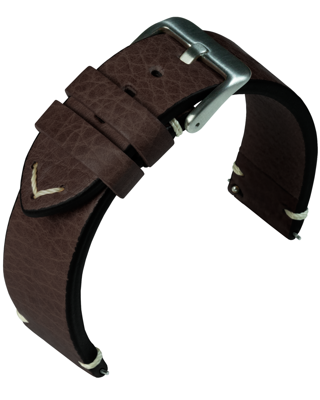 Eulit - Retro - dark brown - leather strap