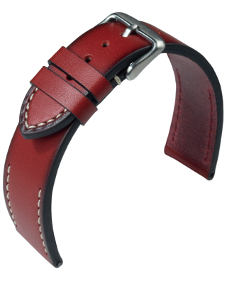 Eulit - Woodstock - red - leather strap