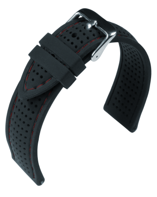 Eulit - Silicone Air - black / red - silicone strap