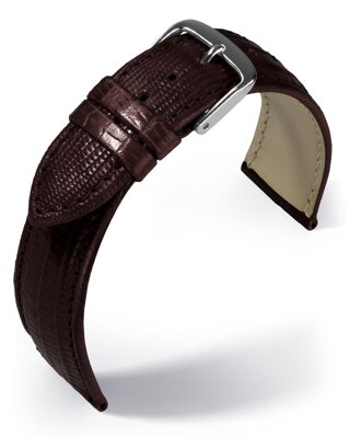 Eulit - Teju lizard look - dark brown - leather strap