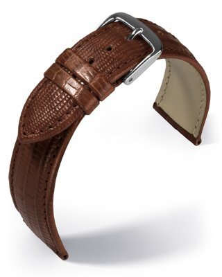 Eulit - Teju lizard look - golden brown - leather strap