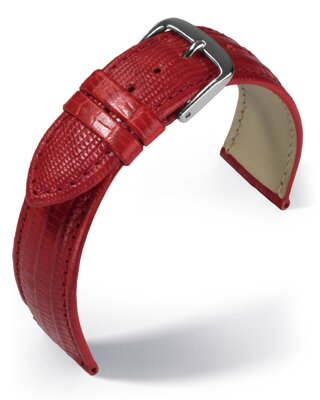 Eulit - Teju lizard look - red - leather strap