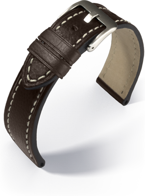 Eulit - Zeppelin - dark brown - leather strap
