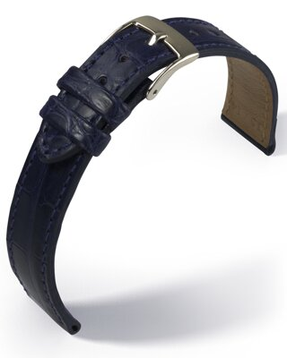 Eulux - Alligator Classic - blue - leather strap