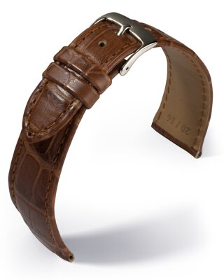 Eulux - Alligator Classic - golden brown - leather strap