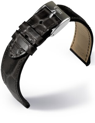 Eulux - Alligator Embossing - black - leather strap