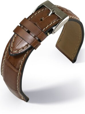 Eulux - Alligator Highline - golden brown - leather strap