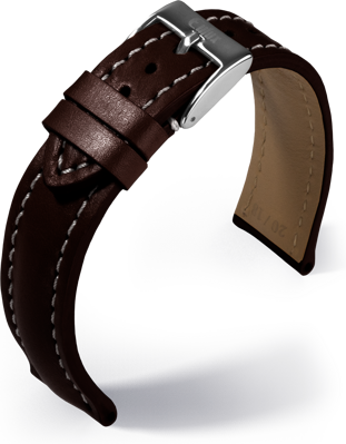 Eulux - Buffalo - dark brown - leather strap