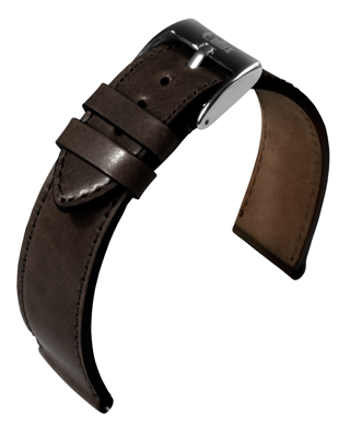 Eulux - Shell Cordovan - dark brown - leather strap