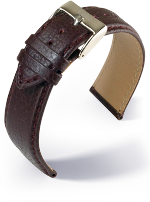 Eulux - Olive - bordeaux - leather strap