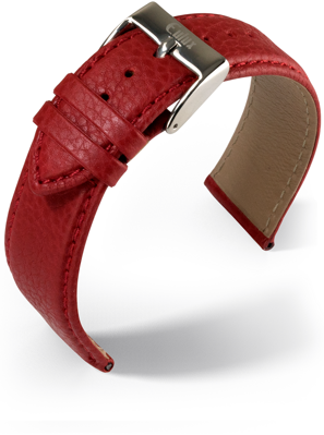 Eulux - Olive - red - leather strap
