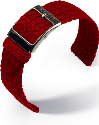 Eulux - Vintage nubuk - red - leather strap