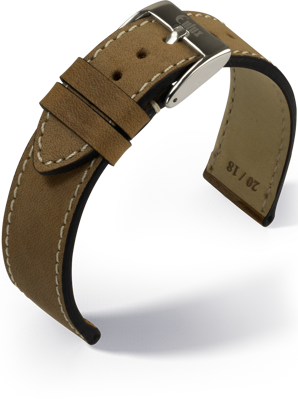 Eulux - Vintage nubuk - medium brown - leather strap