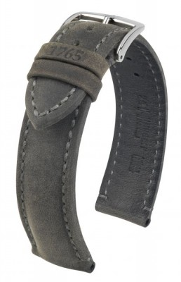 Hirsch Heritage - anthracite - leather strap
