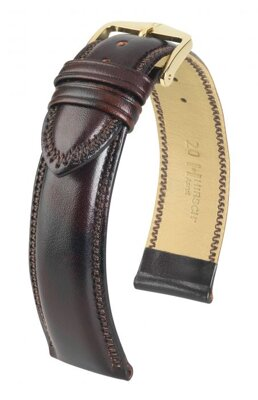 Hirsch Ascot - brown shiny - leather strap