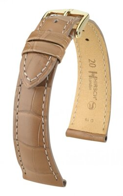 Hirsch London - beige alligator - leather strap