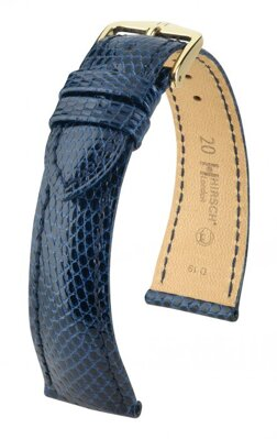 Hirsch London - blue - leather strap