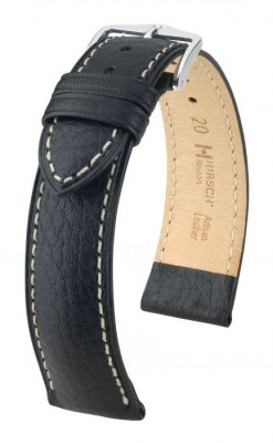 Hirsch Boston - black - leather strap